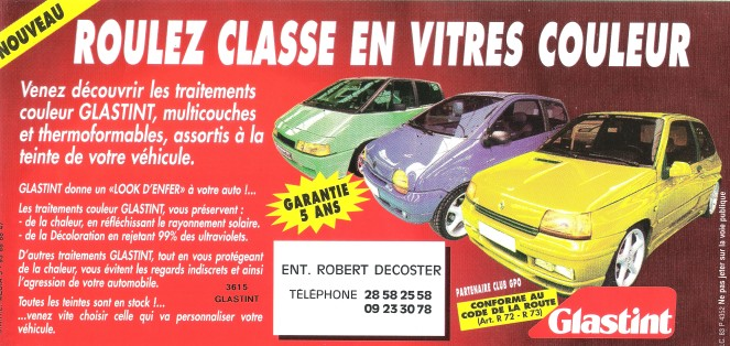 campagne pub GLASTINT national 1995